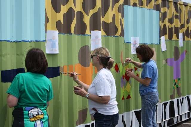 CAN mural painting