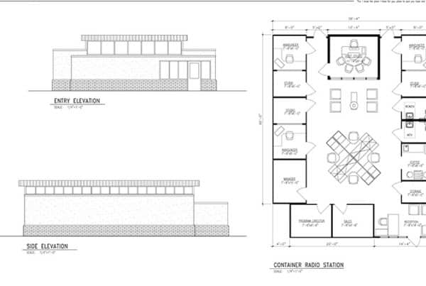 Radio Station Layout Drawing